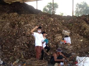 Pemisahan sampah di Temesi