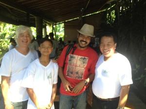 Mitra Eco Club dengan Kadek Gunarta di Yoga Barn Ubud.